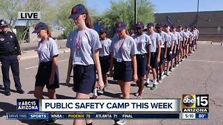 Teens participate in public safety camp in the Valley - Video