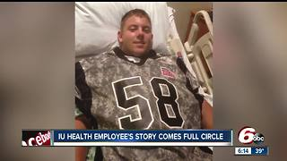 Man begins working for hospital that saved his life in high school - Video