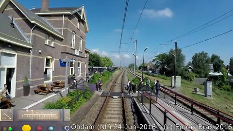 Pedestrian near miss by train caught on camera