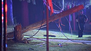 1 person killed in crash after SUV flips over, hits a tree in Brunswick