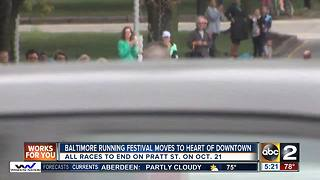 Balitmore RunFest changes location to heart of Downtown - Video