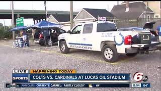 Colts fans get ready for the home opener - Video