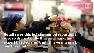Retailers See Historic Rise in Spending - Video