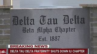 Delta Tau Delta Fraternity suspends Indiana University chapter for 'multiple instances of hazing' - Video