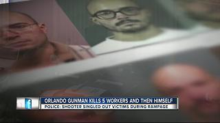 Orlando gunman kills 5 workers and then himself - Video