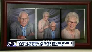Clinton Township couple shares secret to 70 years of marriage - Video