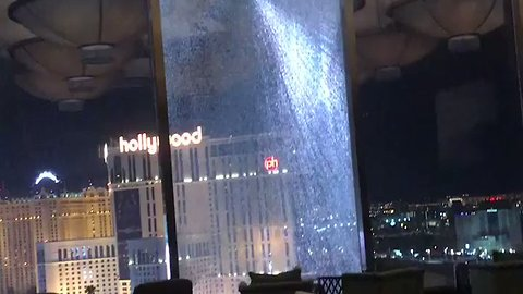 Glass Shatters and Falls From 23rd Floor of Waldorf Astoria in Las Vegas