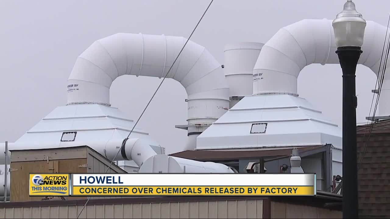 Howell residents concerned over chemicals released by factory