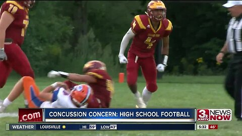 Safety precautions and concussion concerns for high school football