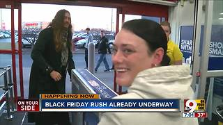 Black Friday rush starts early - Video