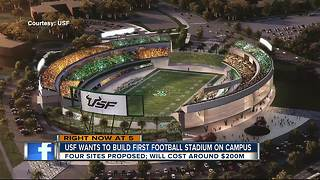 USF wants to build football stadium on campus - Video