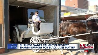 Business owner caught in protests shares support for black lives matter