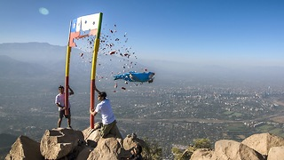 Wingsuiter Crashes Through Sign In Midair At 120mph - Video
