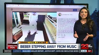 Bieber says he's stepping away from music