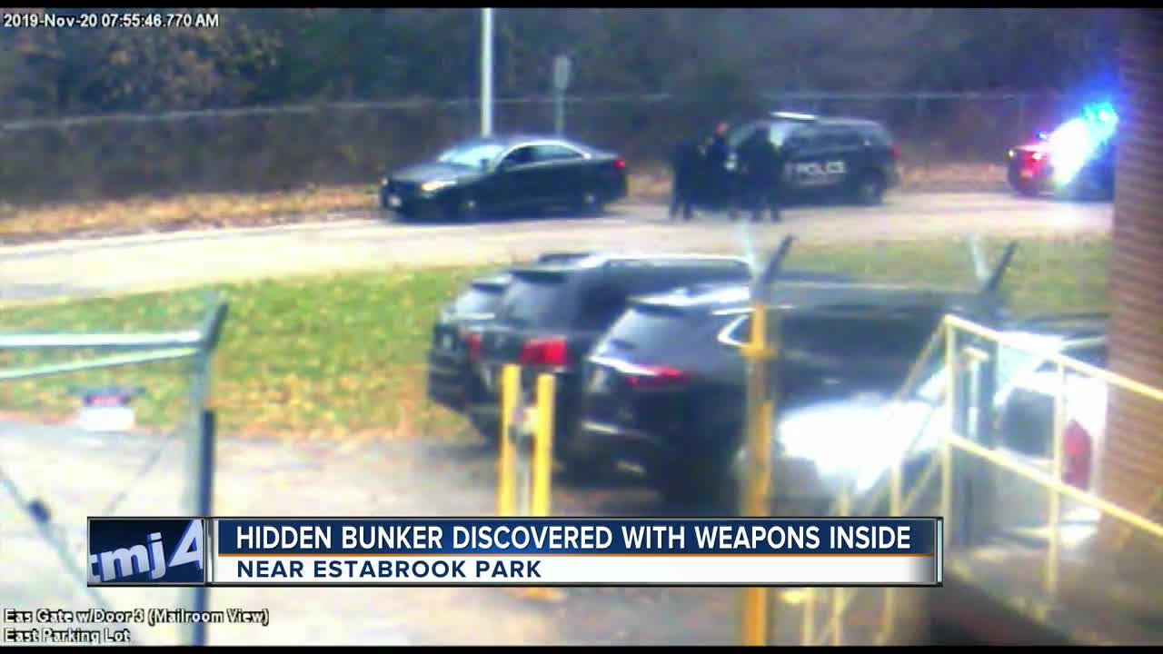 Hidden bunker discovered with weapons inside near Estabrook Park