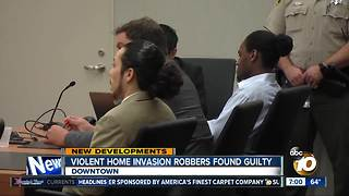 Violent home invasion robbers found guilty - Video