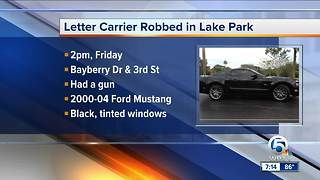USPS letter carrier robbed in Lake Park - Video