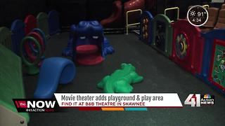Movie theater adds playground and play area - Video