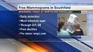 Free mammograms in Southfield today - Video
