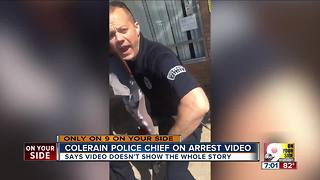 Police chief discusses arrest video