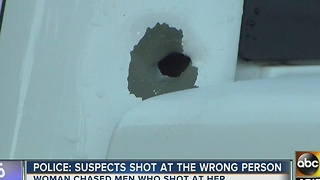 Woman shot at chases her attackers on Loop 101 - Video