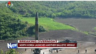 North Korea fires missile into waters off Japan - Video