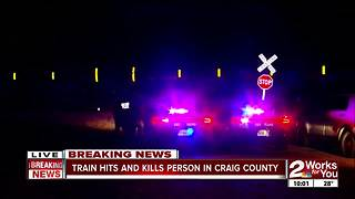 OHP investigates train vs. pedestrian fatality - Video