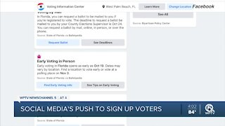 Facebook and Instagram accounts flooded with voting reminders