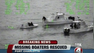Family rescued after boat gets stuck in mangroves - Video