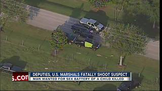 U.S. Marshals, Hernando County deputies shoot and kill man wanted for sexual battery - Video