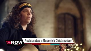 Marquette freshman stars in University Christmas video - Video