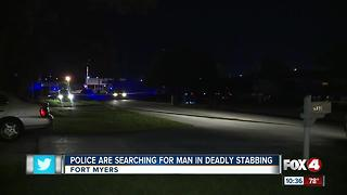 Police search for suspect accused of stabbing man to death