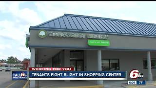 Irvington tenants fight blight in shopping center