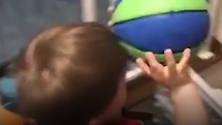 3-Year-old Basketball Trick Shot Master