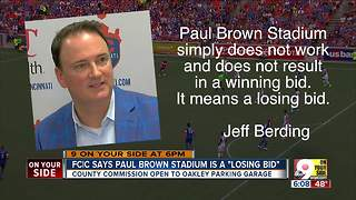 FC Cincinnati says soccer at Paul Brown Stadium is a no-go - Video