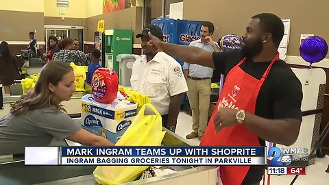 Mark Ingram teams up with ShopRite to 'help bag hunger'