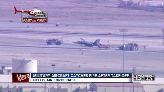 Nellis officials say military aircraft 'incident' was aborted takeoff - Video