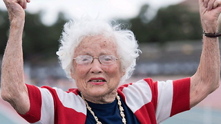 101-Year-Old Woman Breaks World Track Records - Video