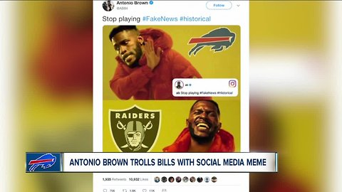 Star receiver Antonio Brown trolls Bills with social media meme