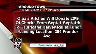 Around Town 9/1/17: Help Hurricane Harvey victims - Video