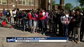 School assembly promotes safety as summer nears