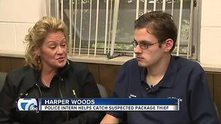 Police intern with Autism turned successful crimefighter in Harper Woods - Video