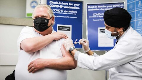 Doug Ford Got His First COVID Vaccine Dose On Friday & Played Dead Afterwards (VIDEO)