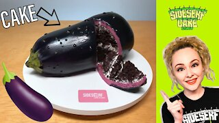 How to make a hyperrealistic eggplant cake