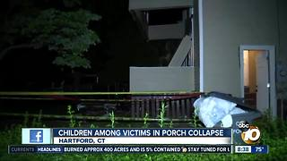Children among victims in porch collapse - Video