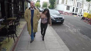 Casey Batchelor and Jonathan Sothcott spotted in London - Video