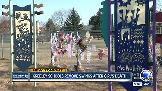 Greeley school district removes playground equipment after girl's death - Video