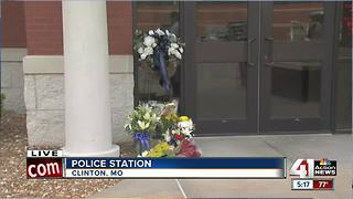 Clinton community shaken after officer shot and killed - Video