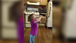 A Young Girl Tastes A Sour Candy - Video