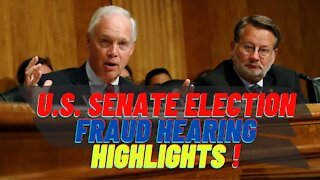 U.S. Senate Election Fraud Hearing Highlights!! 12-16-2020